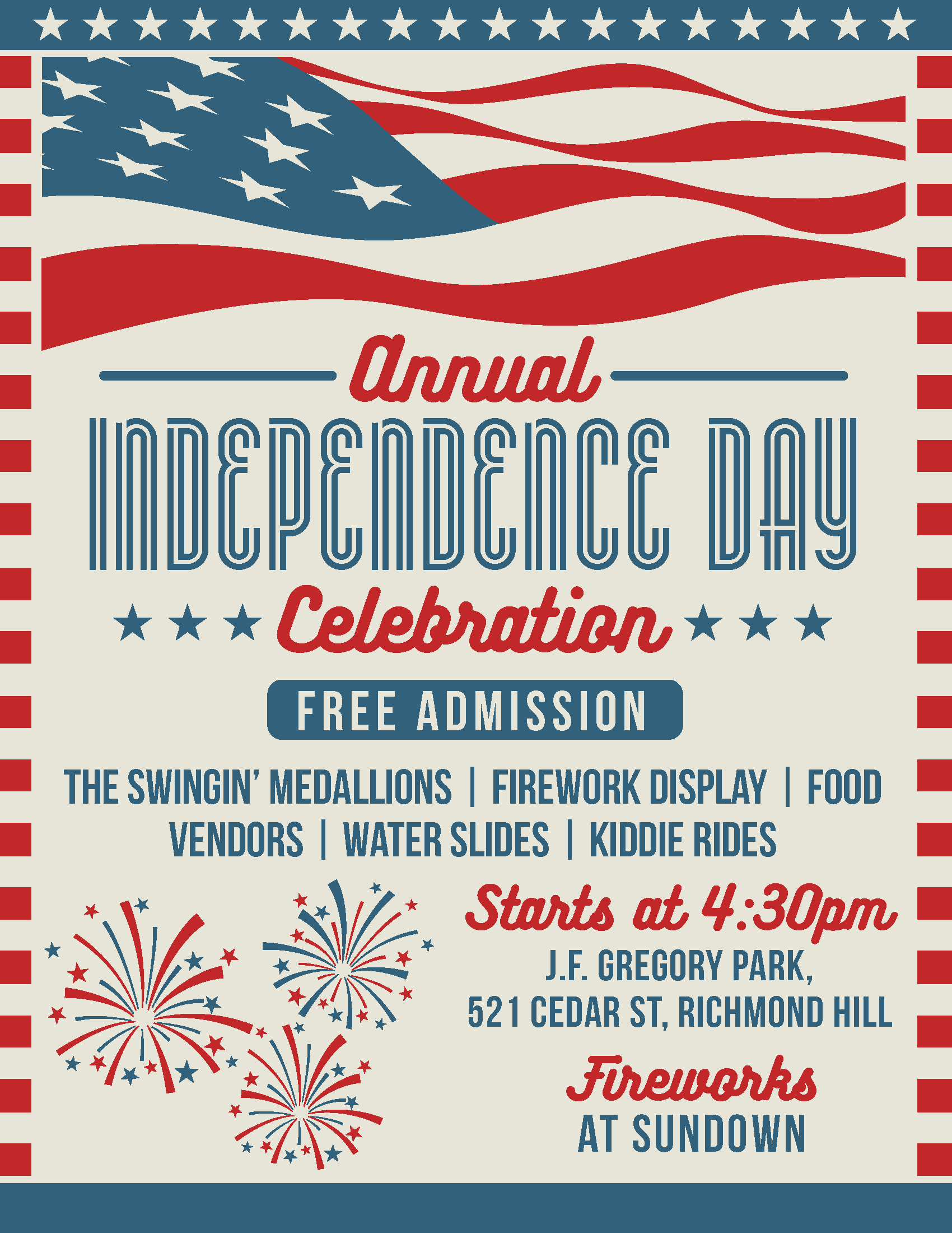 2021 Independence Day Celebration Flyer
